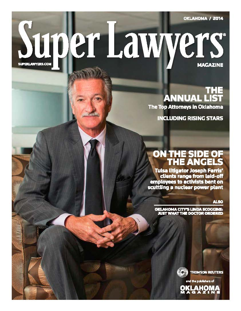Joseph Farris on the Cover of 2014 Super Lawyer Magazine